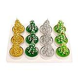 Yunso 12pcs Weihnachtsmann Schneemann Baum Formte Kerzen Weihnachtsdekor