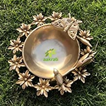 Aakrati Decorative Urli Lotus Leaf for Diwali Decor Living Room Decorative for Centre Table, Diwali Gift, Housewarming Gift