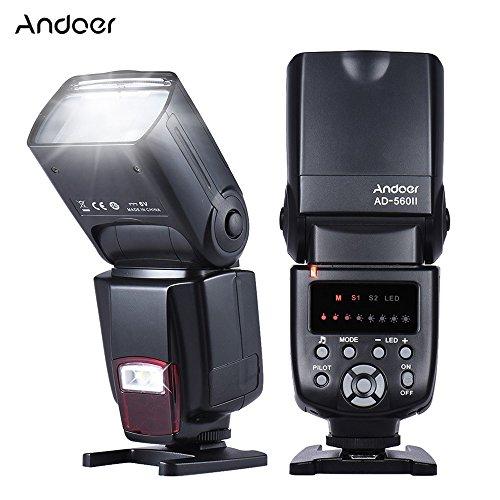 Andoer AD-560ⅡUniversal Flash Speedlite para Cámara Canon Nikon Olympus Pentax