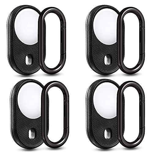 4-Pack Holder for AirTag, Guidemoh Shockproof Cover Loop Keychain Compatible with Apple Airtags Accessories
