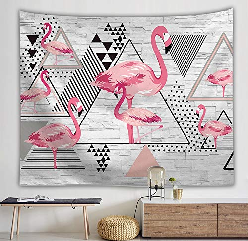 WERT Flamingo Tapiz Arte de la Pared Tapiz Tropical decoración del hogar Cortina Sala de Estar Colcha Mantel A4 95x73cm