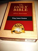 The Holy Bible - 1611 Edition King James Version / 400th Anniversary Black Genuine Leather, Golden Edges / Word-for-word facsimile of the original 1611 Authorized Version