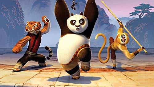 TTbaoz Rompecabezas Juguetes Juego Regalo (38 * 26cm) Kung Fu Panda-Tres Hermanos practicando - 1000 Piezas Rompecabezas Rompecabezas para Adultos Rompecabezas para Adultos