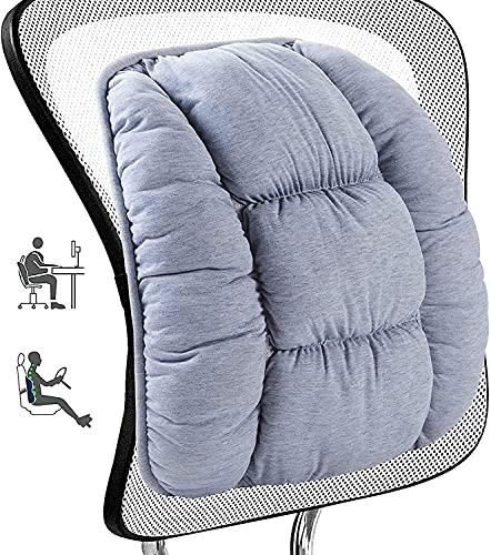 Big Hippo Cojín lumbar – Suave apoyo lumbar – Cojín lumbar – Cojín de apoyo lumbar – Cojín de apoyo para la espalda – Cojín universal para coche, silla de oficina y hogar