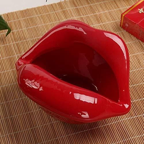QPM Leuke cartoon asbak lippen keramische asbak creatieve bloempot trendy mond mode thuis mini