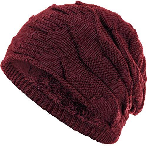 Compagno beanie warm gevoerde wintermuts elegant breipatroon beanie one size fits all