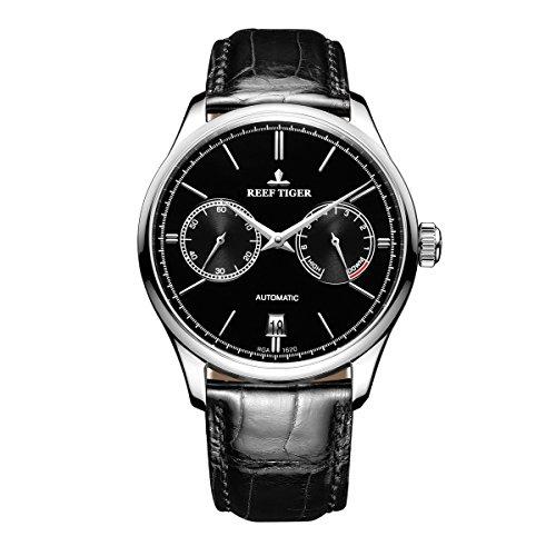 REEF TIGER Herren Uhr analog Automatik mit Leder Armband RGA1620-YBB