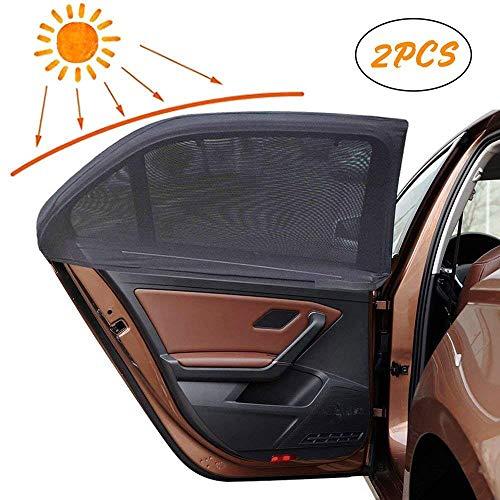 Korostro Sonnenschutz Auto Seitenscheibe,Sonnenblende Auto Baby mit UV Schutz für Kinder, Blendung&Hitze Auto Seitenfenster Sonnenschutz Flexibel DehnbaresNetz Geeignetfür Autos und SUVs - 2 Stück