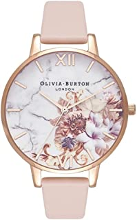 Olivia Burton Womens Quartz Watch, Analog Display and Leather Strap OB16CS12