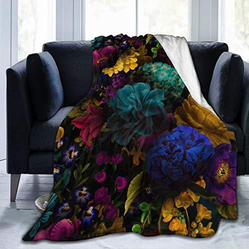 Meiya-Design Fleecedecke 127 x 152,4 cm – Vintage Shabby Chic Night Affaire Home Flanell Fleece weich Warm Plüsch Überwurf Decke für Bett Couch Sofa Büro Camping