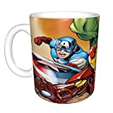 Taza de café de cerámica Marvel The Avengers Taza de té divertida novedad regalo 11 oz