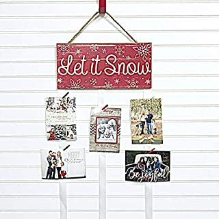 Christmas Card Holder - Let it Snow (Red)