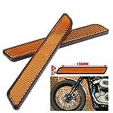 Motorcycle 2 Pcs Orange Front Fork Leg Reflector Reflective Stripe For Harley All Lower Legs Slider Dyna Softail Sportster FXD