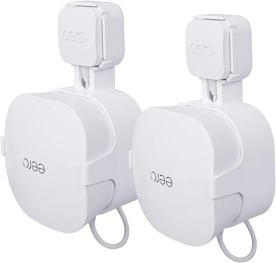 Wall Mount for eero mesh WiFi, [15W Plug Version ONLY] Space-Saving Outlet Mount for eero mesh, Enlarging Coverage and No Messy Wires(2 Pack)