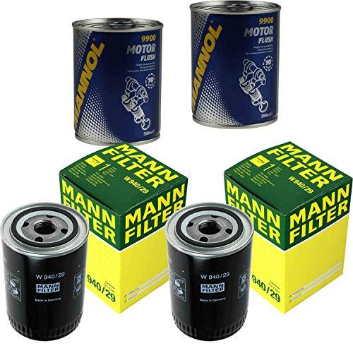 Preisvergleich Produktbild 2x Original MANN Ölfilter W 940 / 29 + 2x SCT Motor Flush Motorspülung