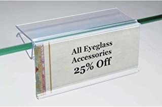 Label Holders for Glass Shelves 3 x 1 1/4 (L x H) Pack of 50