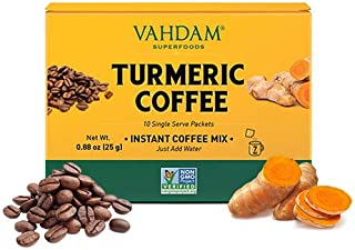 Instant Coffee Mix with Turmeric & Black Pepper | 10 Servings | Great Smooth Taste | Elevate Your Coffee Routine | 100% Ar...