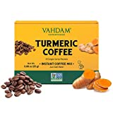 VAHDAM, Mezcla de cúrcuma + súper elixir de café - 10 porciones | Mezcla de café instantáneo con cúrcuma | Dieta Cetogenica| Café Arábica mezclado con cúrcuma activa | Vegano, Keto- Amistoso, NO-GMO