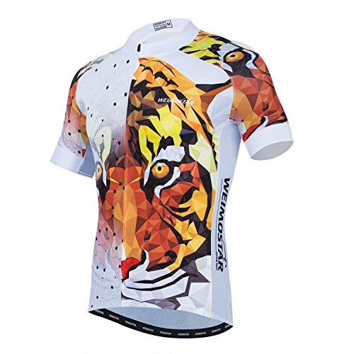Hotlion Summer Cycling Jersey Men Mountain Bike Jersey Quick Dry Bicycle Shirt Short Sleeve Cycling Clothing