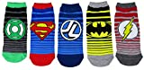 DC Comics Womens Justice League Ankle-No Show Socks 5 Pair Pack (One Size, JL Striped)