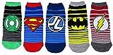 DC Comics Damen Socken Justice League Knöchel-No Show, Einheitsgröße, gestreift, 5 Paar