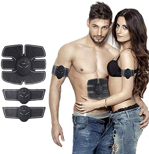 SHREEJI Square Silicone Black Body Mobile-Gym 6 Pack EMS Tummy Flatter, Weight Loss Muscle Toning (10,SAS-159)