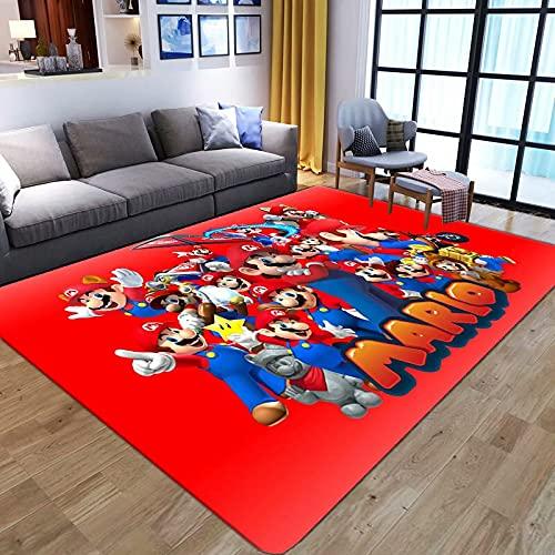 WallDiy Cartoon Anime Super Mario 3D-Druck Teppiche für Wohnzimmer Schlafzimmer Großflächiger Teppich Kinder Spielen Fußmatten Kinderspiel Big Rug