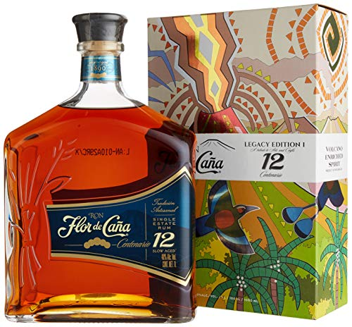 Flor de Cana Centenario 12 Years Old Legacy Edition I mit Geschenkverpackung Rum (1 x 1 l)