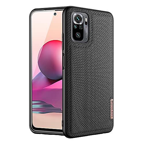 DUX DUCIS Hülle für Xiaomi Redmi Note 10 4G, Nylon Soft TPU Stoßfeste Handyhülle für Xiaomi Redmi Note 10 4G (Schwarz)