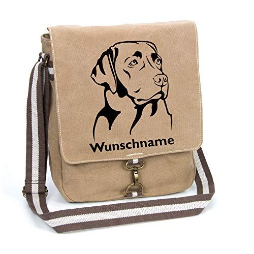 Labrador Retriever Schultertasche Umhängetasche Tasche mit Hundemotiv und Namen personalisiert