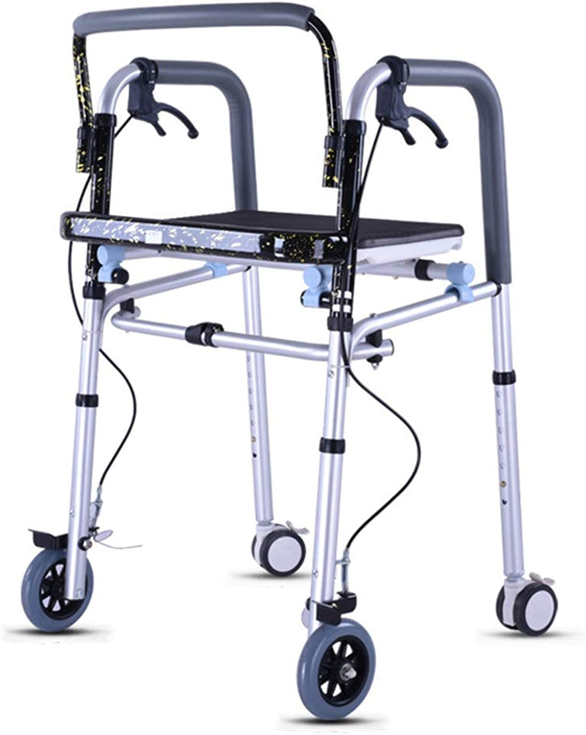 The Elderly Rehabilitation Walker Can Be Folded Easy to Carry The Brakes Ensure Safety Help The Patient with Severe Lower Limb Function Damage Standing and Walking