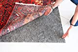 Grizz Fuzz Advantage Low-Profile 0.125 inch 08' x 10' Rug Pad Non-Slip Rug Pad for Hardwood & Laminate Flooring - Easy to Trim & Use Under Carpet Rug Pad for Floor Protection - Made in USA