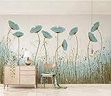 Fototapete 3D Effekt Vliestapete Schöne Mintgrüne Blumen Tv-Hintergrundwand Des Nordischen Minimalismus 3D Tapete Moderne Wanddeko Design Wandbilder