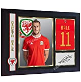 SGH SERVICES gerahmtes Poster Gareth Bale Wales National