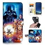 for Samsung S10+ / Galaxy S10 Plus, Designed Flip Wallet Phone Case Cover, B31183 Starwars Darth Vader 31183