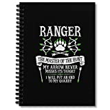 Spiral Notebook Ranger The Master Of The Hunt Dungeons & Dragons White Text Composition Notebooks Journal With Premium Thick Office Organizer Paper