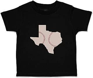 Custom Baby & Toddler T-Shirt Texas Map Baseball Cotton Boy Girl Clothes