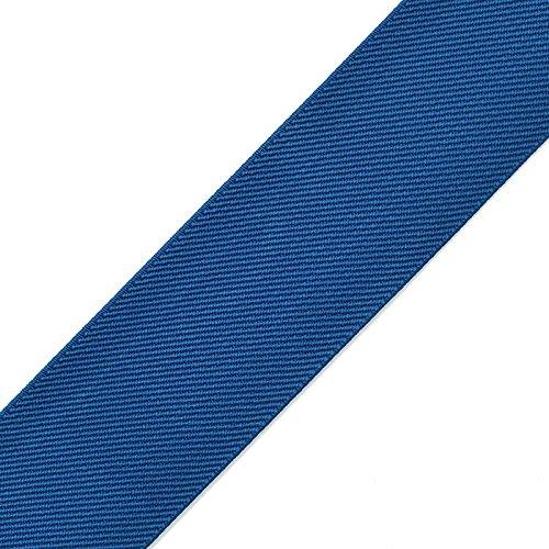 2' (50mm) Twill Elastic Band Trim, Waistband Elastic, Elastic Trim, Elastic Ribbon, 2 Yard, TR-11831 (Blue)