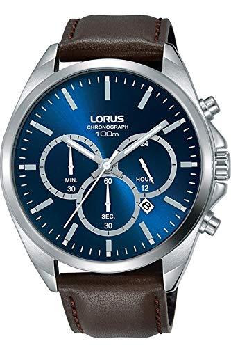 Lorus Herren Analog Quarz Uhr mit Leder Armband 8431242951355