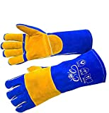 Premium Leather Welding Gloves | Heat Fire Resistant Welders Glove | Mig Welding Gloves |O...
