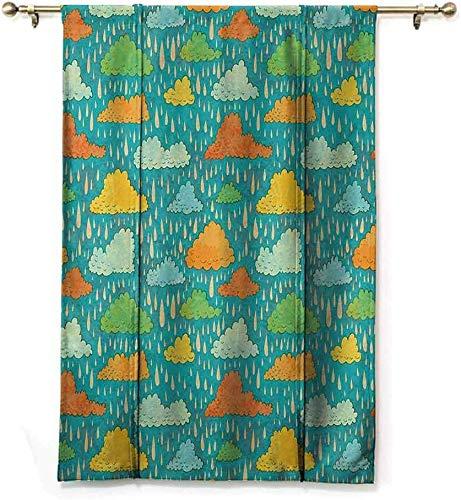 Wild One Curtain Dekoschal Romano Funk Arte Figurativa sjaal Soffice regen wolken op Cielo Cupo Tempo Umorisme druk Oscuramento, W122 x H183 cm / 48 x 72 inch