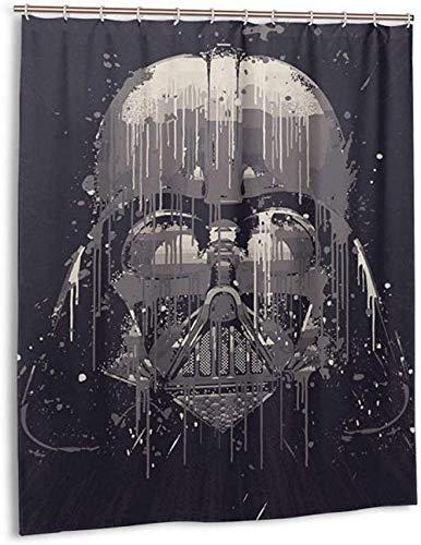 YUJEJ801 Star Wars Darth Vader Shower Curtain Polyester Fabric Machine Washable Bathroom Curtain Anti-Mould Waterproof Bath Curtains with 12 Hooks 180x180cm