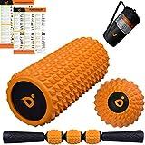 Foam Roller Set | Rullo Massaggio Muscolare | Trigger Point Pallina Massaggio | EVA Bastone Rullo Schiuma - Massaggiatore per Schiena, Gambe e Piedi - Muscolare Fitness Attrezzi per Atleti & Pilates