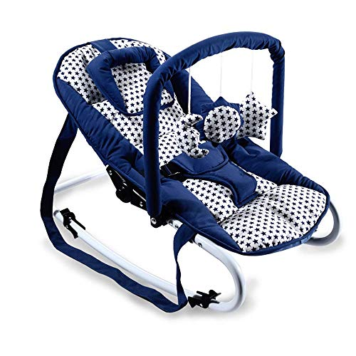 Silla de swing de bebé, silla mecedora recién nacida portátil puede sentarse y reclinar el diseño de abrazo adecuado para bebés 0-18 meses WDH666