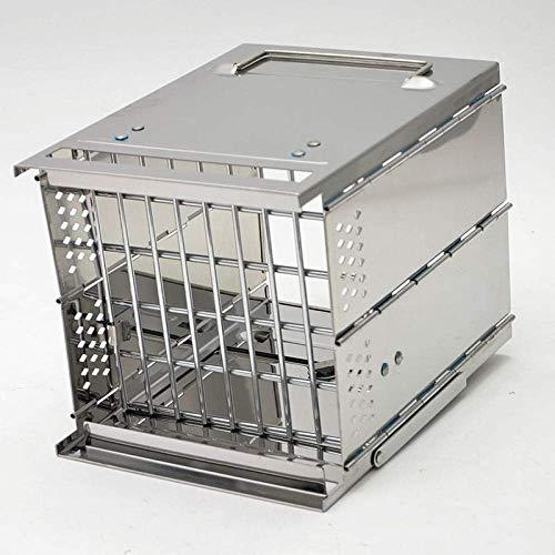 Estante Soporte ajustable portátil parrilla de carbón pequeña parrilla de acero inoxidable para 2-4 personas Adecuado para camping al aire libre Rack