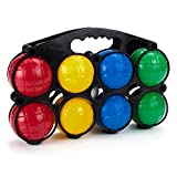 4-Player Bocce Set with Carrying Case | Set of Soft, Lightweight Plastic Balls...