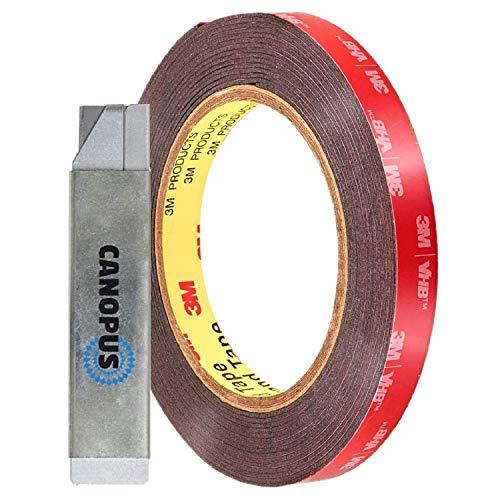 CANOPUS 3M Cinta Adhesiva Doble Cara ExtraFuerte 3M VHB (10mm x 3m),...