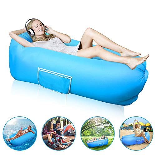 Vodche Inflatable Lounger Air Sofa Hammock