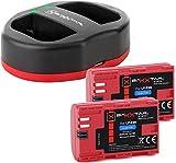 Baxxtar USB Dual Cargador TWIN PORT 1823/2 con 2x Baxxtar batería para Canon LP-E6N