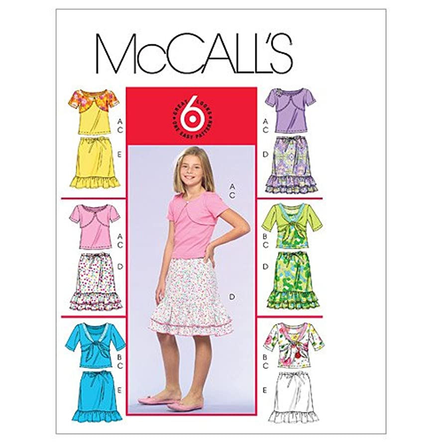 McCall's Patterns M5038 Girls' Shrugs, Tank Top and Skirts, Size CH (7-8-10)